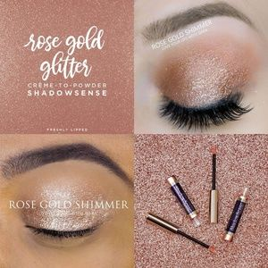 Rose Gold Glitter SHADOW SENSE NWT